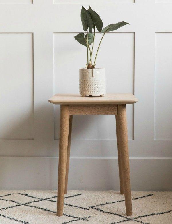 Bergen Side Table Oak Side Table Living Room Side Table Stylish Side Table #oak #end #tables #for #living #room