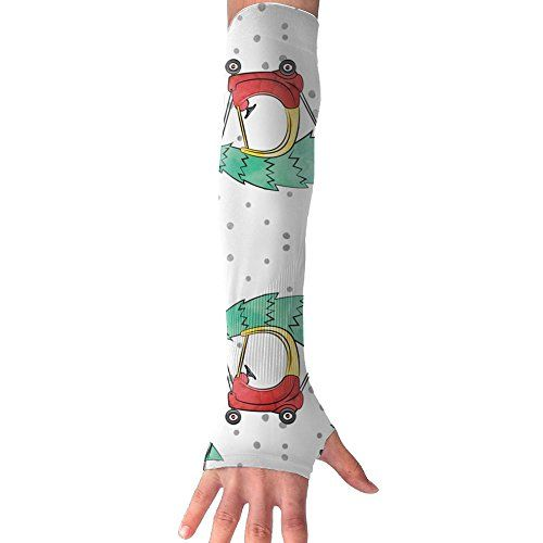 Huadduo Sea Turtles Green Womens Anti-uv Sun Protection Cooling Arm Sun Sports Sleeves Gloves