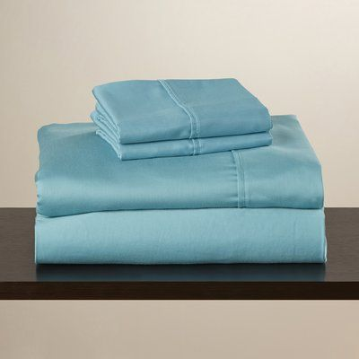 anew edit 600 thread count sheet set size california king color teal
