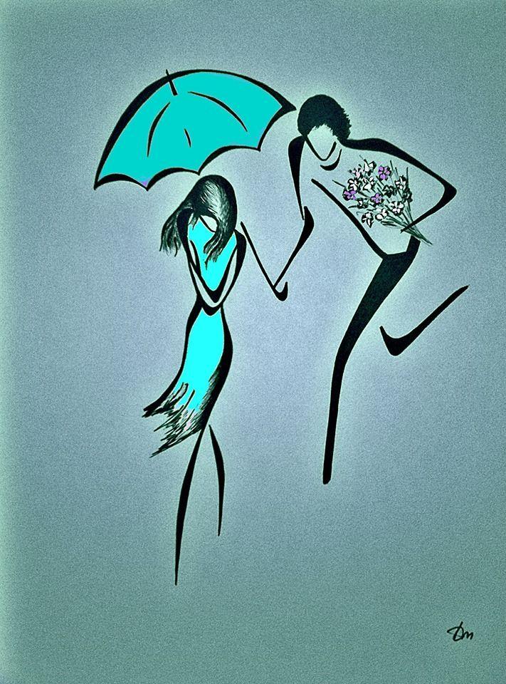 Courons sous la pluie - Tatyana Markovtsev minimalist art