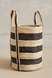 striped woven basket / anthropologie