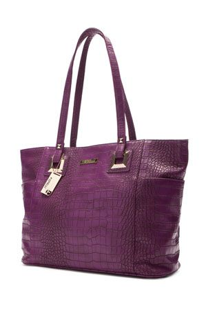 Fiorelli - Croc Tote in Purple FRC106