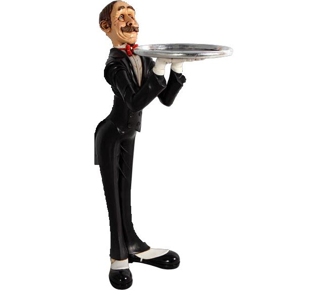 Skinny Butler Statue With Tray 4ft Life Size Statues