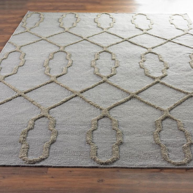 French Quarter Trellis Neutral Flatweave Rug Traditional