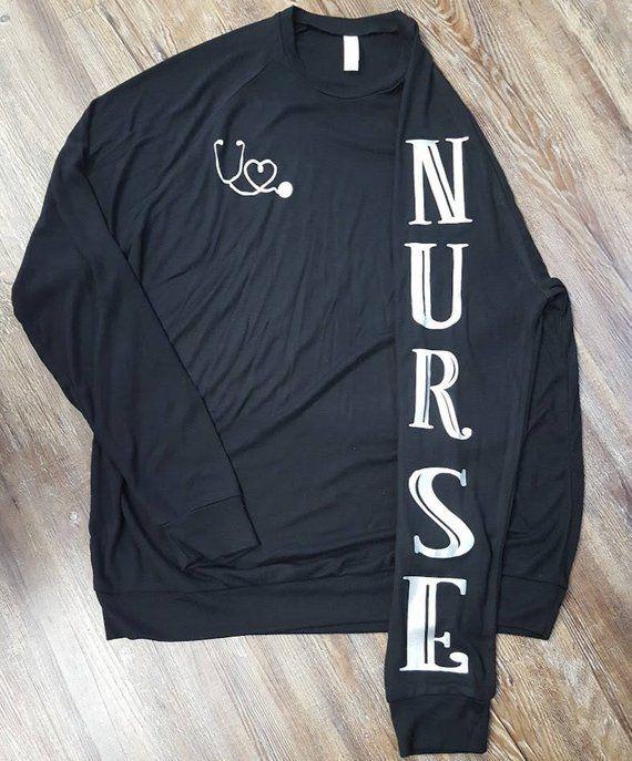 All That Nurses are Best Gift Idea Women Long Sleeve T-Shirt Nurse Initials