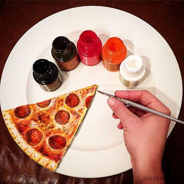 Renklim Blog – Burada renkli bir şeyler var! – Yetenekli insan aç kalmaz :) Tabaklara hiper gerçekçi çizimler – Jacqueline Poirier