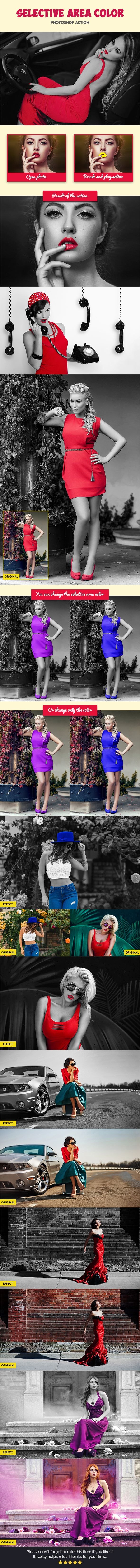 Selective Area Color V2 — Photoshop ATN #black #photoshop actions • Available here → https://graphicriver.net/item/selective-area-color-v2/19592354?ref=pxcr