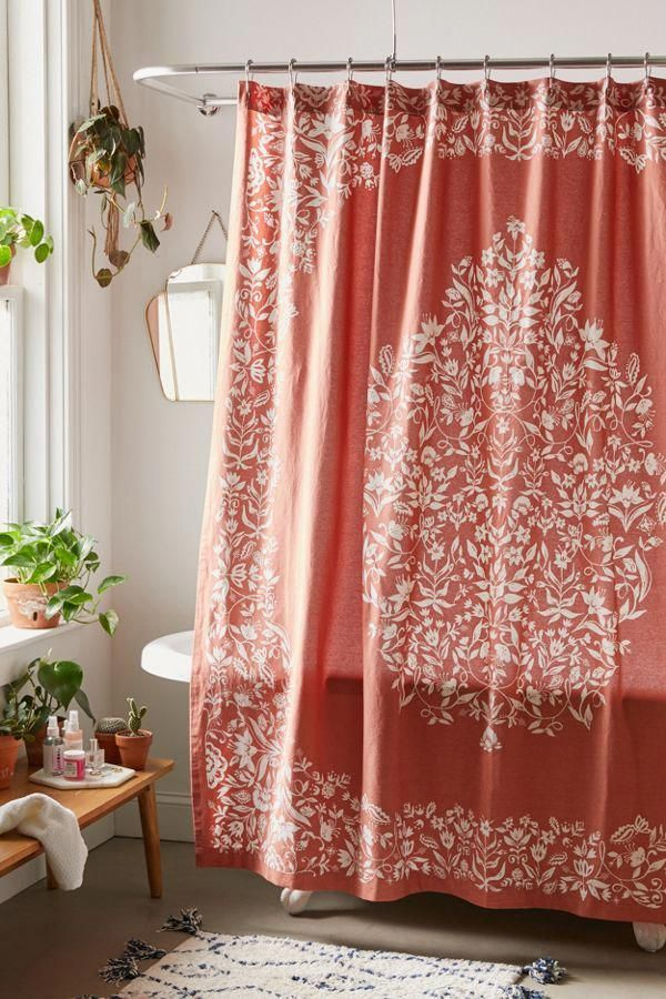 Isle Floral Shower Curtain Urban Outfitters