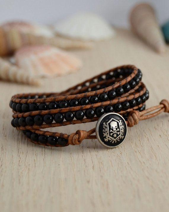 Triple wrap black and brown bracelet by SinonaDesign, €41.00