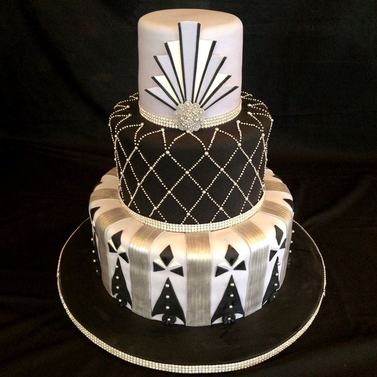 art deco wedding cakes - Google Search