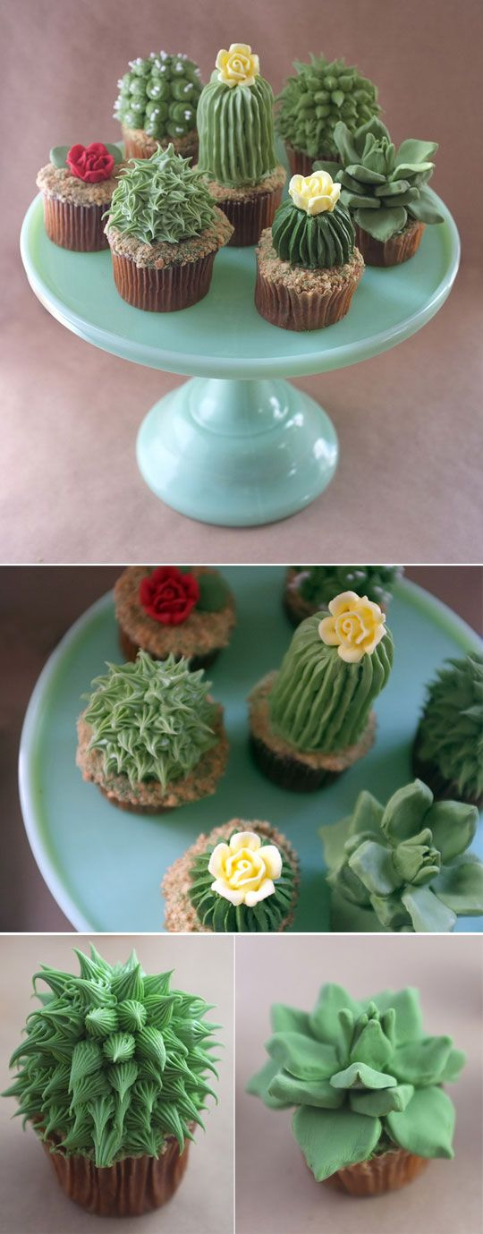 cool cupcakes | cool-cupcake-decoration-cactus-flower