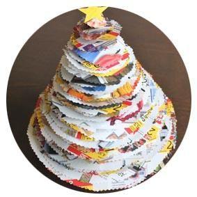 adornos navideos con materiales reciclados