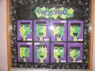 picasso style halloween mrs ts first grade class picasso styleclassroom craftsclassroom - Halloween Crafts For The Classroom