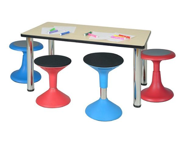 Glow & Grow active seating classroom student wobble stools.