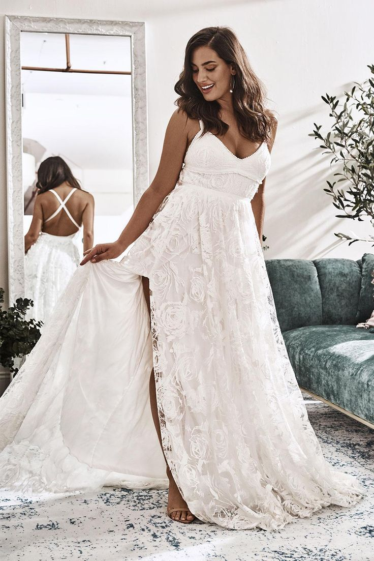 Megan Gown Lace Wedding Dress in 2020 Wedding dresses
