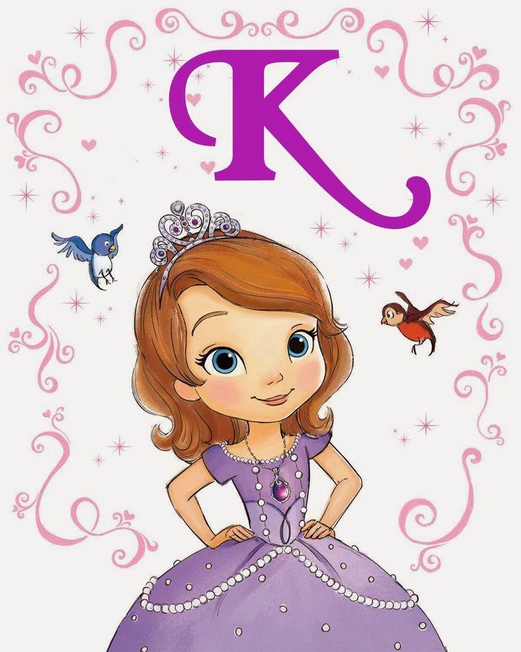alfabeto de la princesa sofa oh my alfabetos