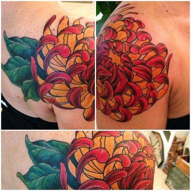 Chrysanthemum Tattoos, Designs And Ideas : Page 10