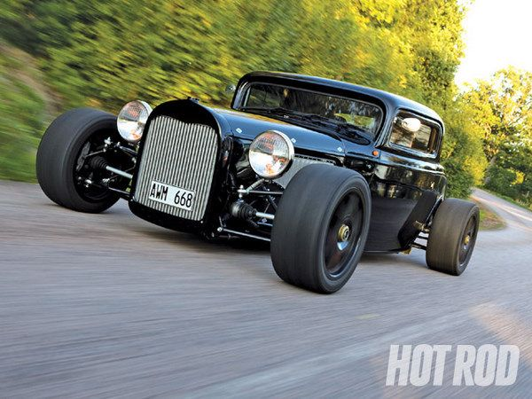 All-Wheel-Drive Turbo Street Rod!! Sign me up. This '32 Ford was built by Tomas Svenningson in Sweden as an AWD track car powered by a turbo Volvo inline-5