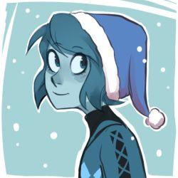 Lapis Lazuli, Christmas, Steven universe || tumblr: Drunk rose district