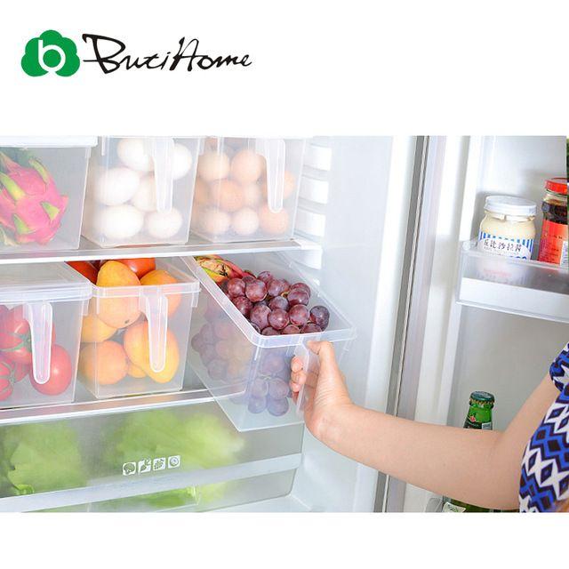 В холодильнике Удобная коробка для получения Для хранения вещей Современная чистка Деталь кухни Холодильник Rresh Супер Удобно Организовать Коробка Случай Бен Корзины Японский Чистые  Кухонные Принадлежности ButiHome