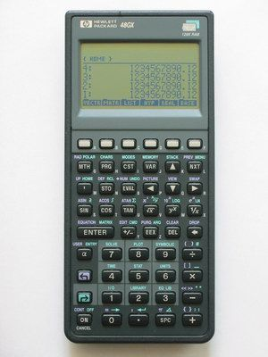Hewlett Packard 48GX graphing calculator. Reverse Polish Notation 4lyfe!!!!1one