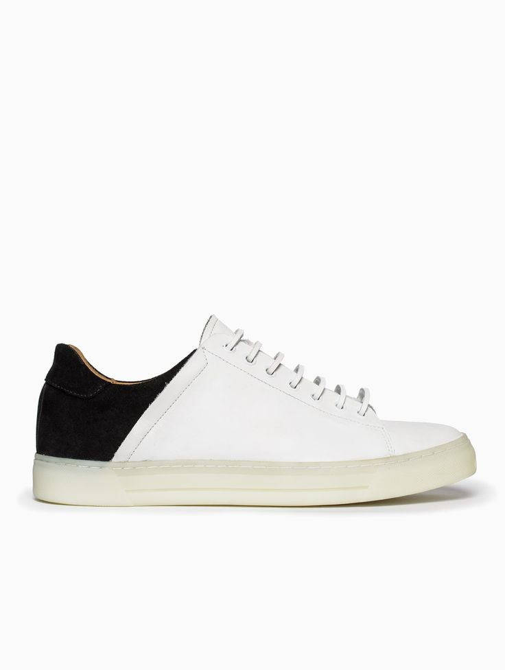 Fedka low-top sneakers from the S/S2015 Silent Damir Doma collection in black and white.