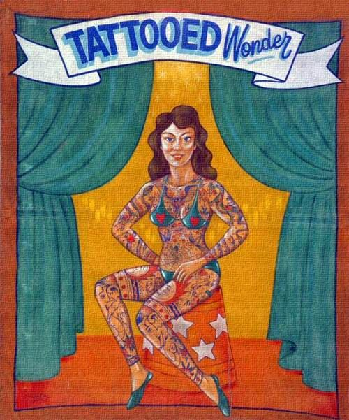 82 best images about circus posters banners on pinterest for Tattoo freak costume