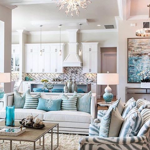 239 best coastal homes interiors images on pinterest for Beach room decor