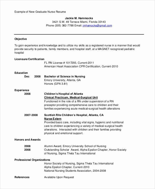23 Nursing Resume Objective Example In 2020 Resume Objective