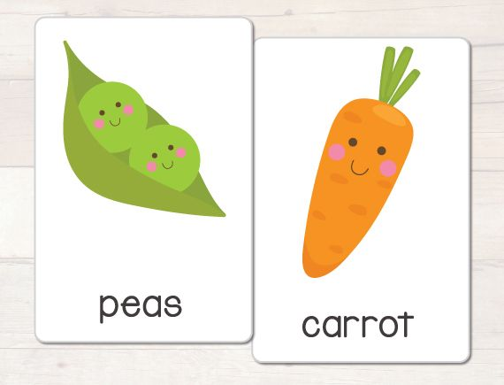 Fruit and vegetable vocabulary cards  Busy Little Bugs blog