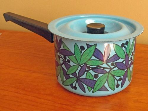 Kaj Franck Finel Mid Century Enamel Sauce Pot. So Pretty!