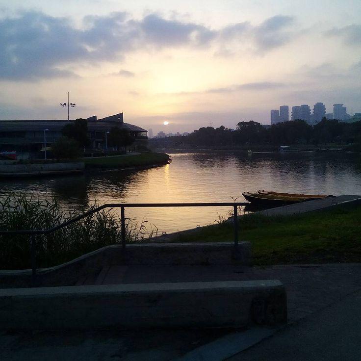Sunrise on the Yarkon river, Tel-Aviv