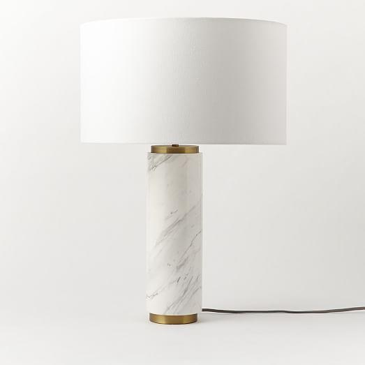 Pillar Table Lamp - Marble | West Elm
