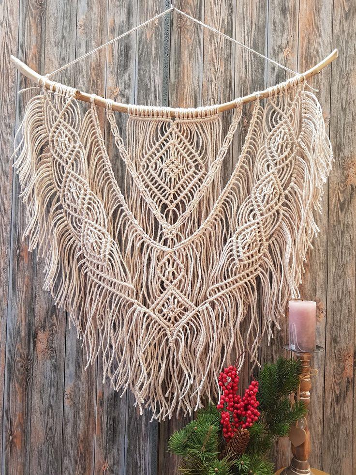 25 b sta boho dekor id erna p pinterest boho bohemisk inredning och smyckesdisplayer - Makramee wandbehang ...