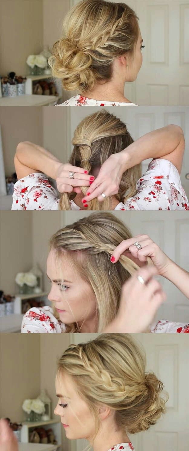 I watched the video, and this hairdo looks super easy and beautiful!