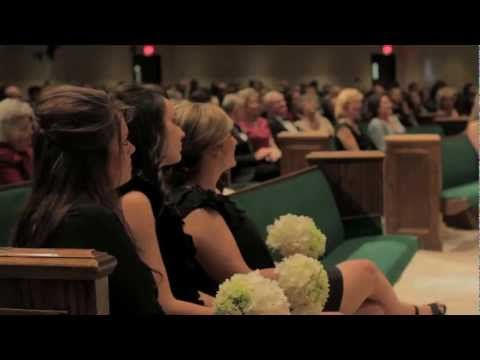 PERFECT wedding video. Not only shows the ceremony, but they also tell their story from the beginning. I love this so much! So much God in this!