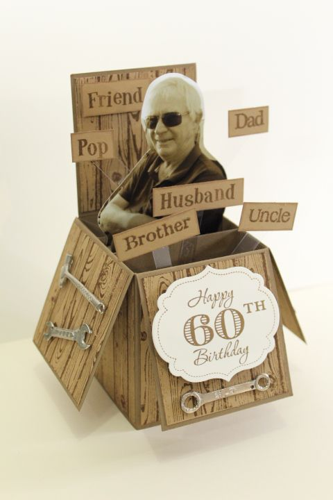 Lustig für Verwandte! Card in a box mit Foto