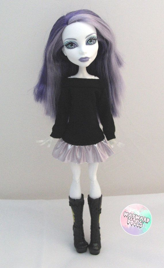 Slouchy Metallic Jumper Dress for Monster High by waywarddolls