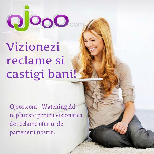 Ojooo este un site PTC(paid to click) german cu ajutorul caruia  castigi bani din vizionari de reclame si diverse microjoburi. Este cel mai tare PTC cel putin pentru S-E Europei asta pentru ca iti ofera de 3x mai multe reclame decat celelalte site-uri PTC concurente. Orice persoana interesata  se poate inregistra pe acesta site si este absolut gratuit. Link inregistrare: http://wad.ojooo.com/register.php?ref=raddu0909