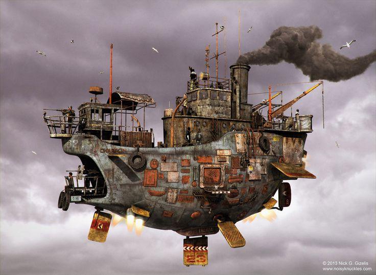 Steampunk Airship,