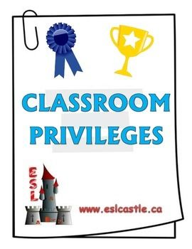 Here is a great set of privileges for your classroom!