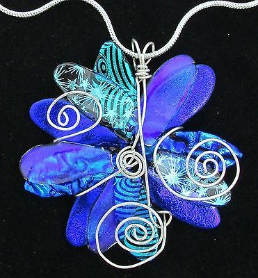 Dichroic Fused Glass Focal Bead Pendant ~ Handmade Jewelry by Firefly Glass Art