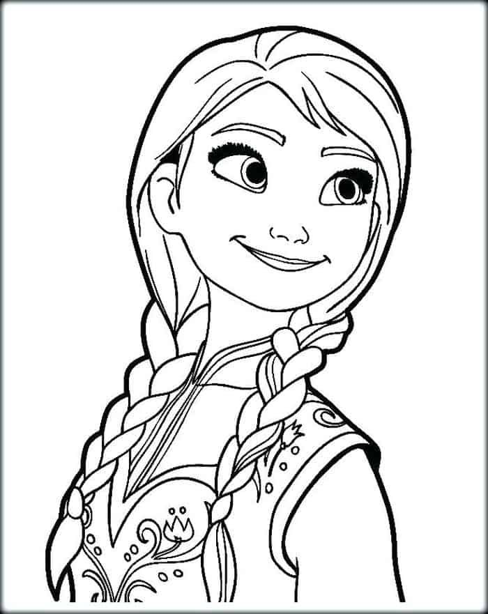 Princess Anna Coloring Pages In 2020 Elsa Coloring Pages Disney Princess Coloring Pages Princess Coloring Pages