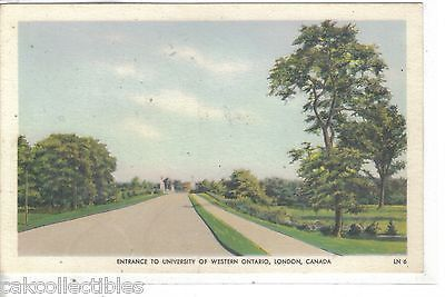 Entrance to University of Western Ontario-London,Canada