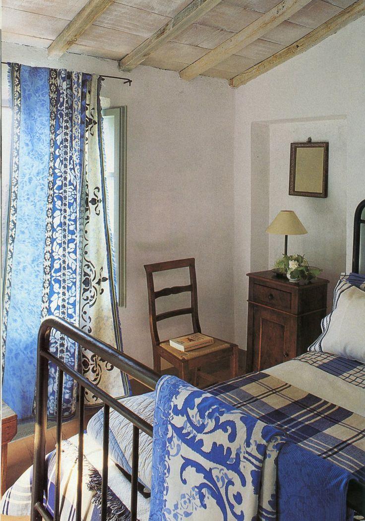 Blue And White Farmhouse BedroomsCozy