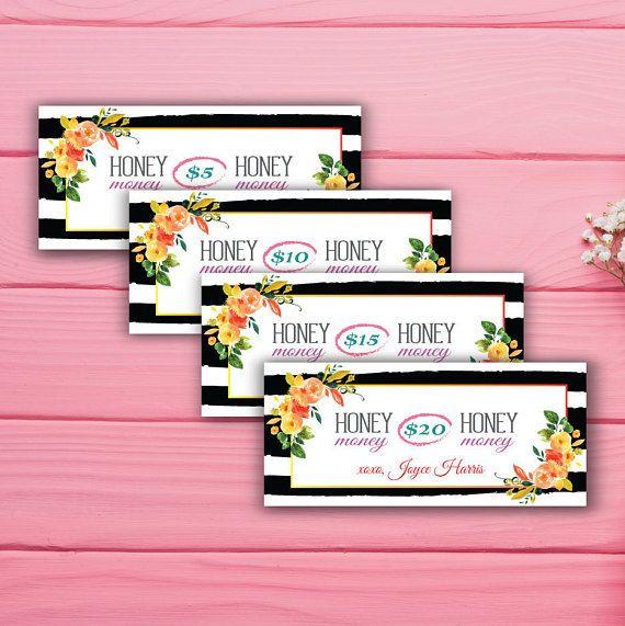 Honey and Lace Cash Card Honey Money Card Custom Honey &