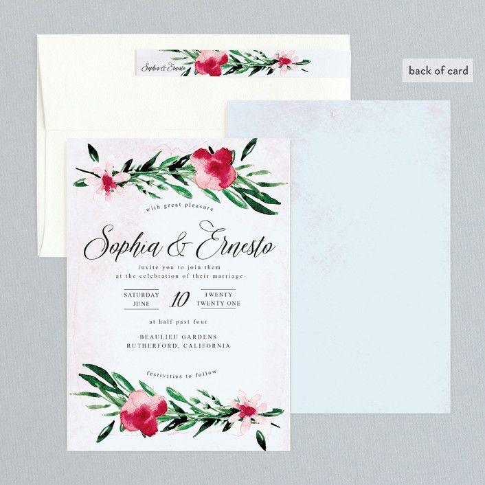 """Garden Party Joy"" - Wedding Invitations in Blush by frances."