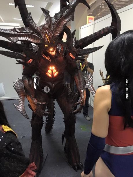 Prime Evil Diablo Cosplay. This was all EVA foam. *bows down*                                                                                                                                                      More