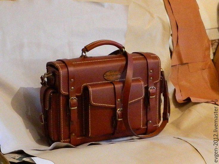 Купить Портфель Rapid-1 - рыжий, кожаный портфель, деловой стиль, спортивный стиль
