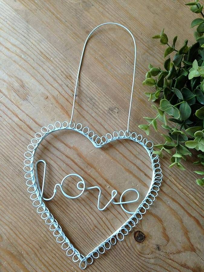 'Love' Wire Duck Egg Hanging Sign